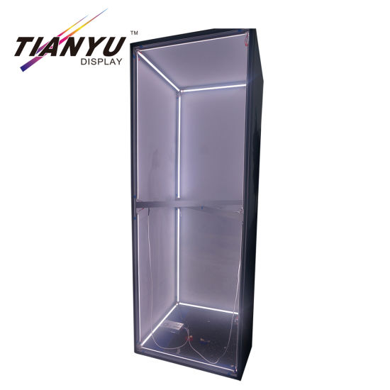 Tragbare Aluminium Customized Cube Light Box Display für Messestand