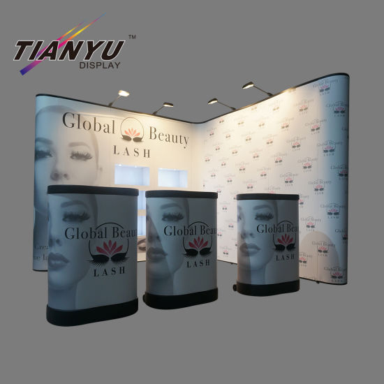 Metall Folding Magnetic Pop Up Display Banner Stand