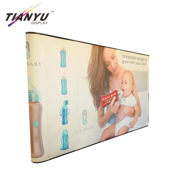 Heat Transfer Printing Tension Fabric Pop Up Display Tragbare Hintergrund Stand